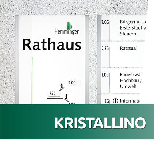 Schildersystem KRISTALLINO